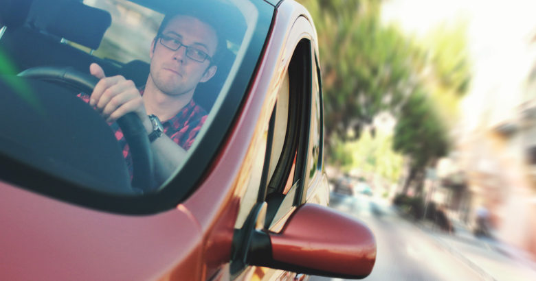 man driving for uber with a ride-hailing insurance policy in place