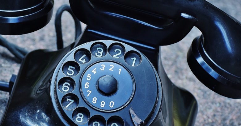 calling your insurance agent with a black phone